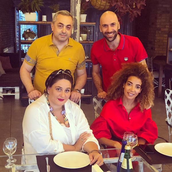 Евгений Папунаишвили и Салима Бижабер с родителями