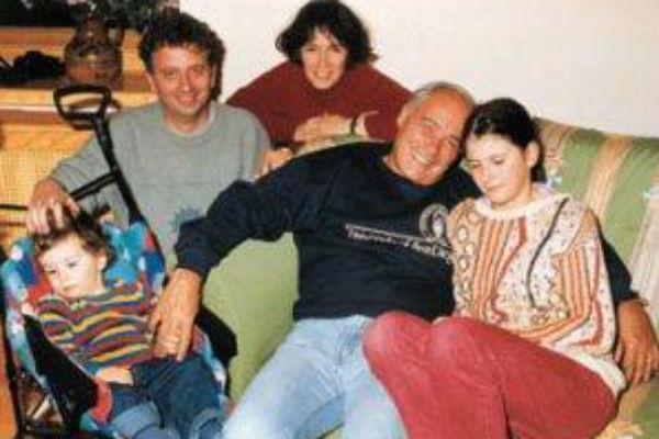 Владимир Познер, его дочь Екатерина, зять и двое внуков: Мария и Николай