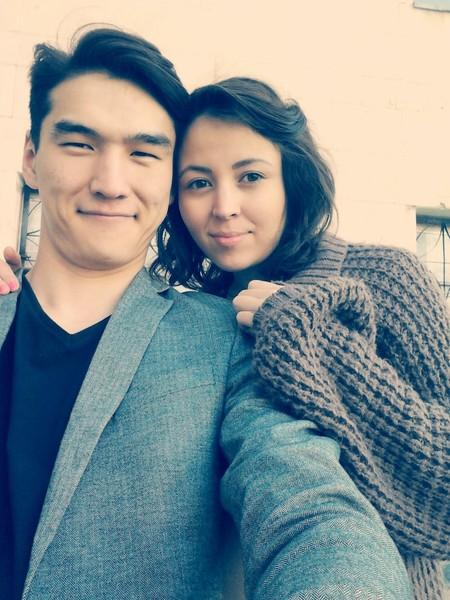 С женой Дианой Сабуровой