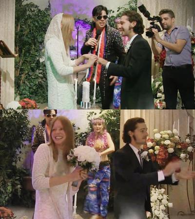 На фото: Свадьба Мии Гот и Шайа Лабаф