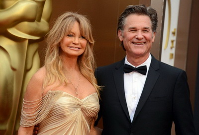На фото: Курт Рассел с женой Голди Хоун