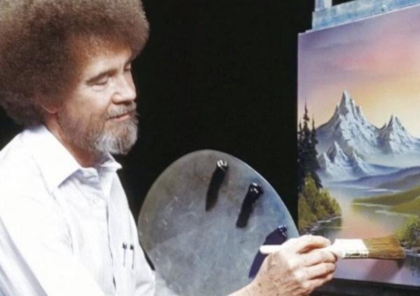 Боб Росс творил в необычном стиле