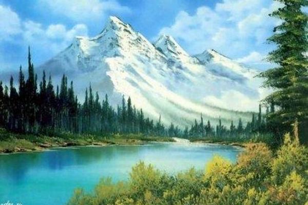 Одна из картин Боба Росса