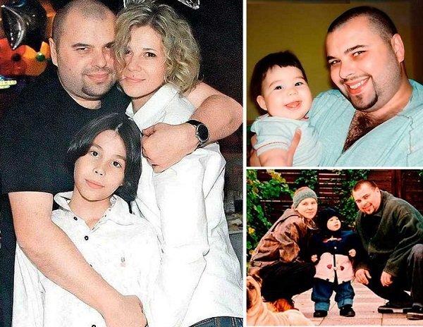 С женой Натальей и сыном Саввой