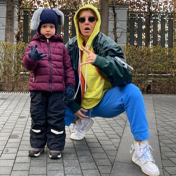 Ксения Собчак с сыном