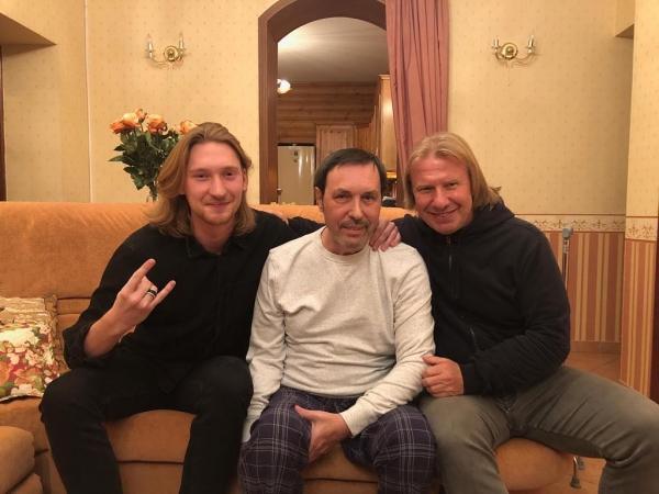 С Виктором Дробышем и Александром Ивановым