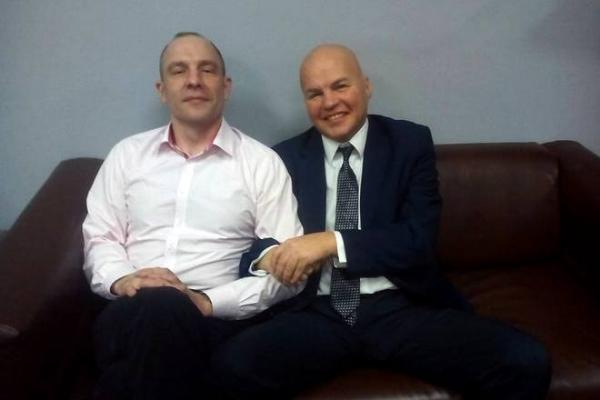 Политологи Андрей Окара и Вячеслав Ковтун