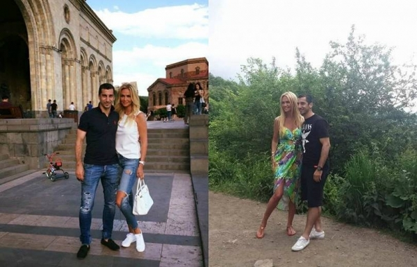 Генрих Мхитарян и Виктория Лопырёва