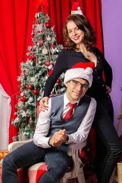 Ким Галачян с женой