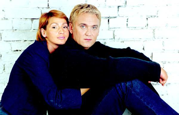 На фото: Александр Маршал с женой Натальей