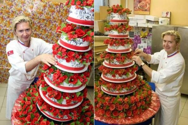 Александр Селезнёв и его знаменитый восьмиэтажный торт Миллион алых роз
