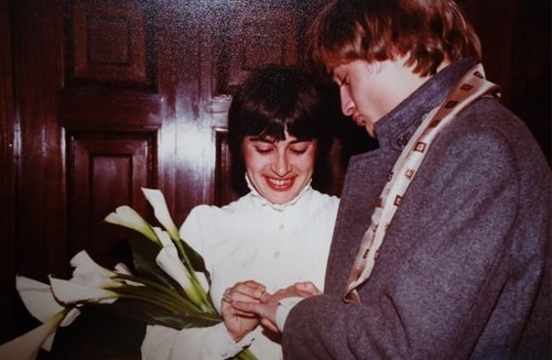 На фото: Александр Васильев с женой