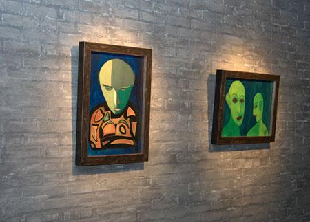 Выставка работ музыканта Александра Васильева в галерее Елены Врубелевской в Москве