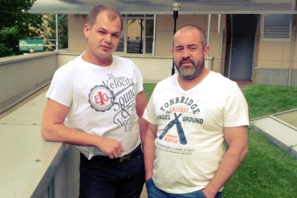 На фото: Алексей Брянцев и продюсер Алексей Брянцев-старший