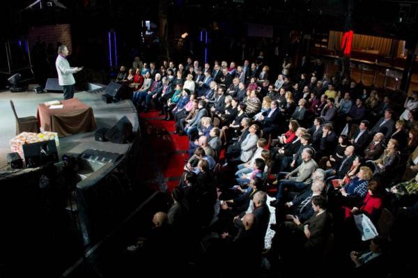 Алексей Лушников на открытии ежегодной встречи работников «ВОТ!»