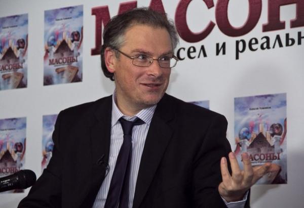 Алексей Лушников на презентации книги «Масоны. Вымысел и реальность»