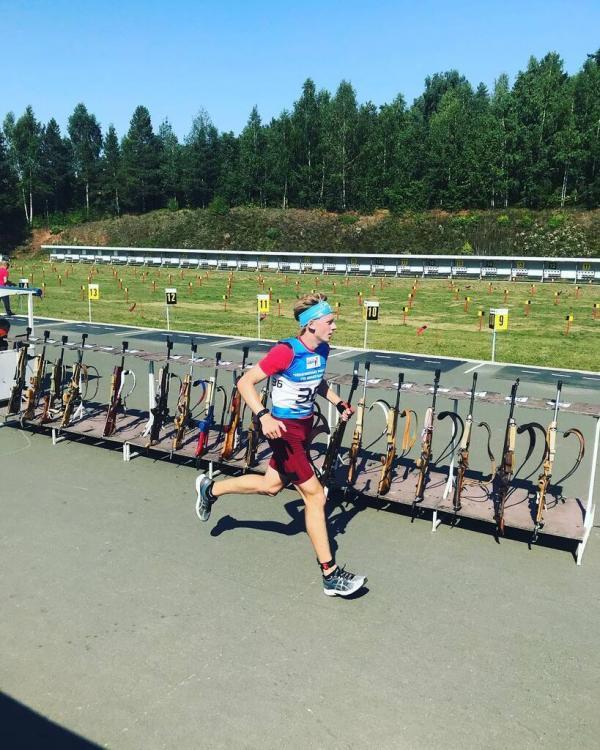 Артемий Хасанкаев на тренировке