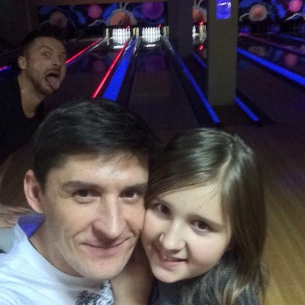 Павел Лазарев со своей дочерью Алиной