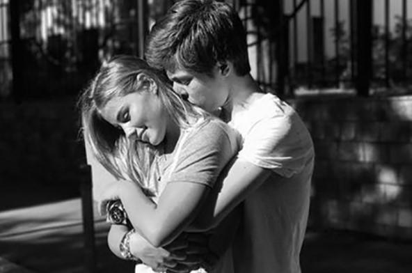 С девушкой Ольгой Барановой
