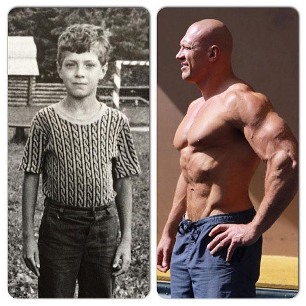 Денис Семенихин в детстве и сейчас