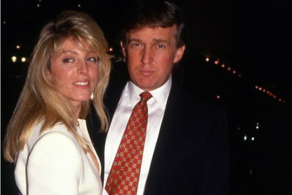 На фото: Трамп и Марла Мейплз