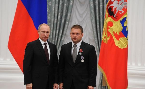Евгений Поддубный награжден Орденом Мужества
