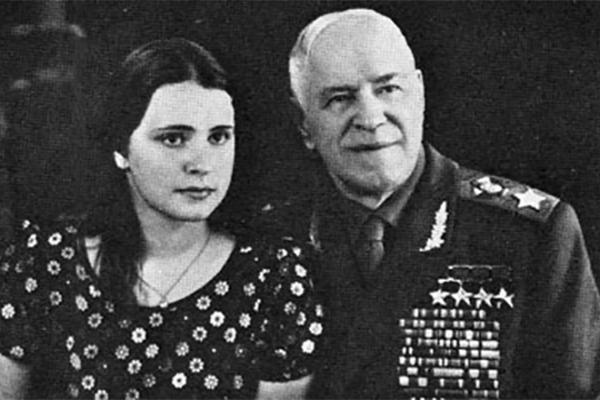 Георгий Жуков с дочерью Марией