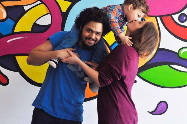 Энтони Родд с женой Анной и сыном Эриком