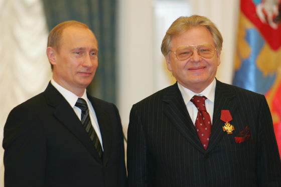 Юрий Антонов на вручении награды