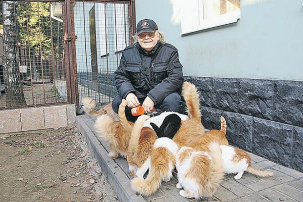 Юрий Антонов и его домашние питомцы