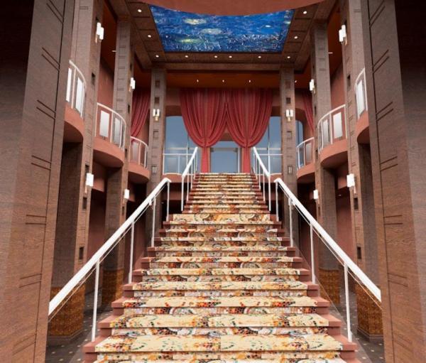 На фото: проект здания ТЦ «Галерея Атриум» внутри
