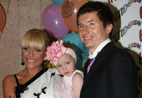 Юлия Началова с бывшим мужем Евгением Алдониным и дочерью Верой