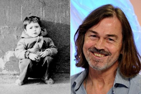 Никас Сафронов в детстве и сейчас