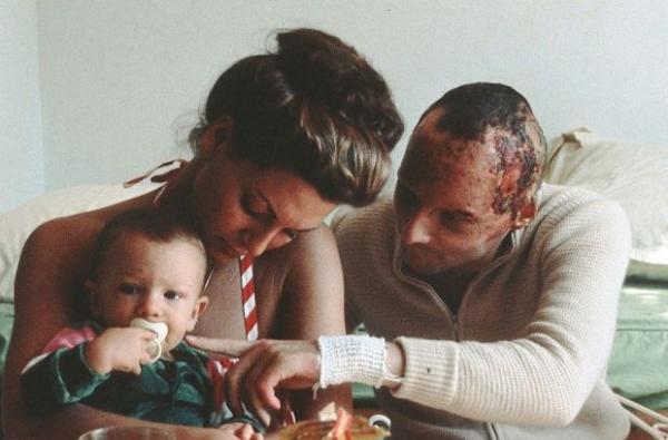 Ники Лауда с первой женой Марлин и сыном Матиасом