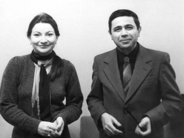 Евгений Петросян и Елена Степаненко в молодости