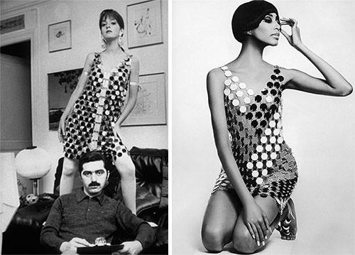 Зеркальное платье Пако Рабана