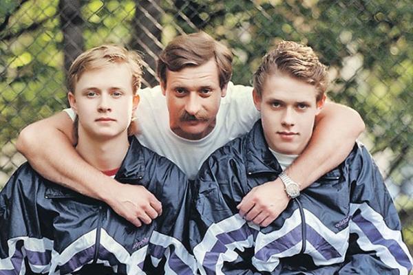 Павел Буре с отцом и братом