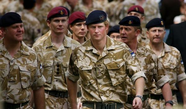 Принц Гарри во время службы в Британской Армии