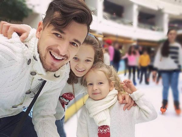 Раду Сырбу с детьми