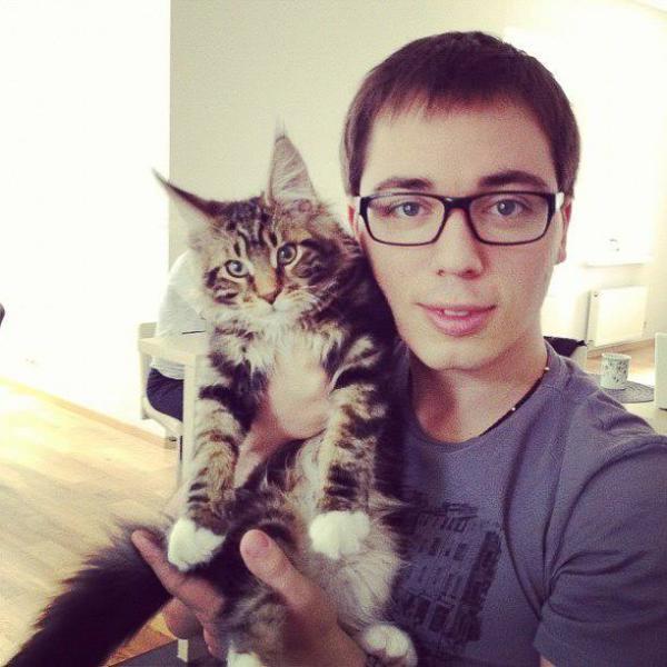 Родион Газманов и его любимый кот Шелдон