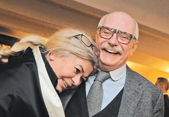 Никита Михалков и супруга его отца Юлия
