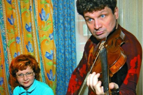 На фото: Сергей Минаев и его жена Алена