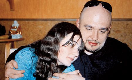 На фото: Сергей Трофимов с дочерью Анной