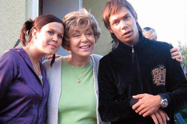 С сестрой и бабушкой