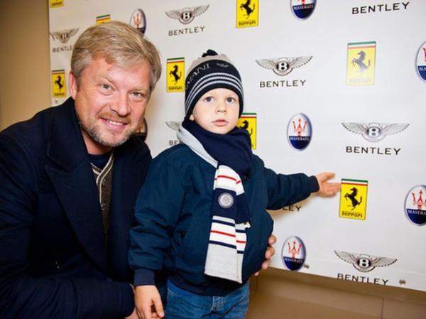 Валдис Пельш с сыном Эваром