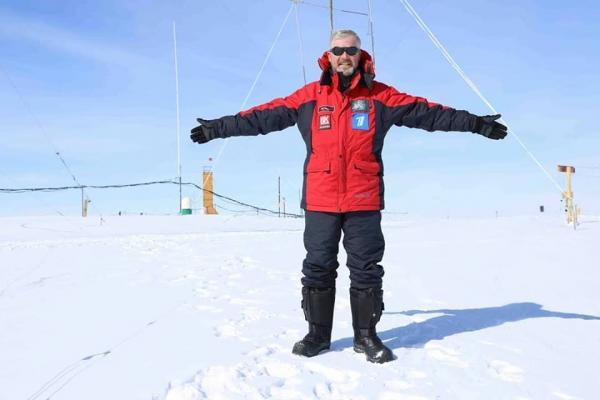 Валдис Пельш в Антарктиде
