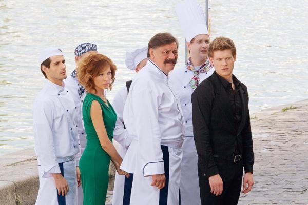 Виктор Хориняк на пробах в сериал «Кухня»