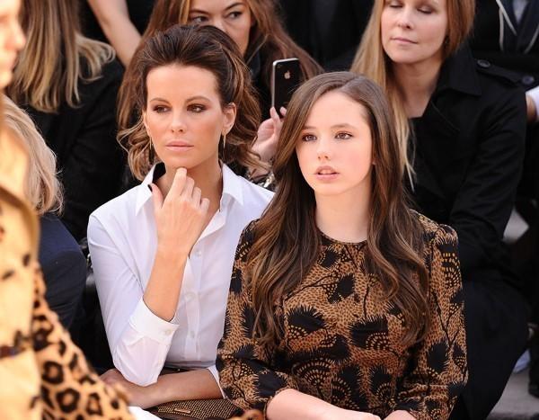 Кейт Бекинсейл с дочерью