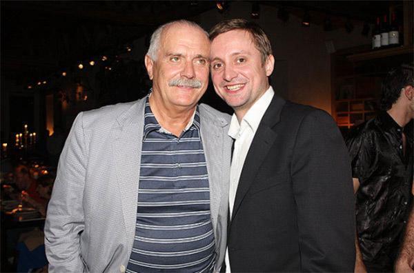 Никита Михалков и его сын Артем