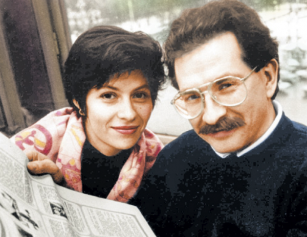 На фото: Влад Листьев и Альбина Назимова